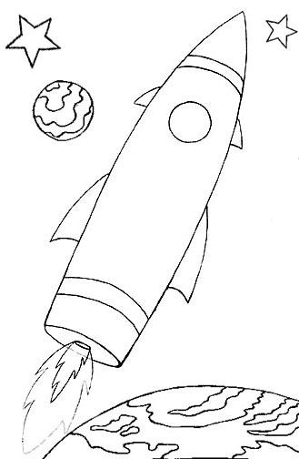Spaceship coloring #13, Download drawings