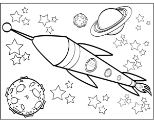 Spaceship coloring #1, Download drawings