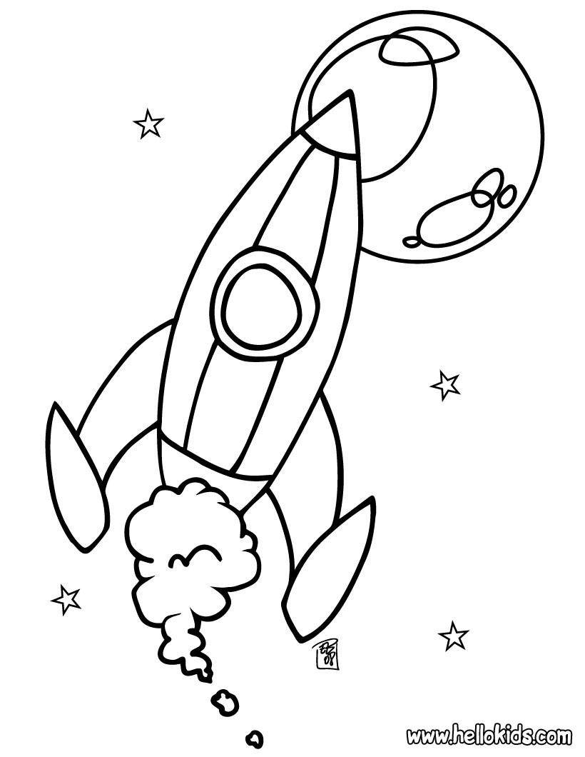 Spaceship coloring #6, Download drawings