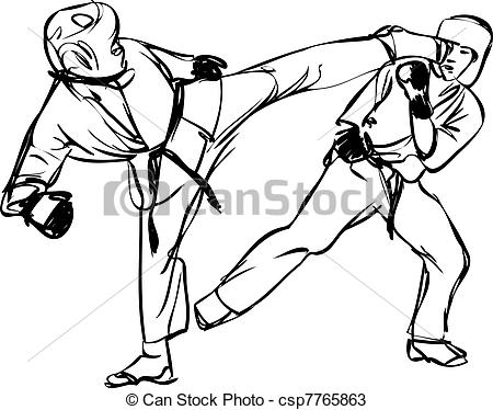 Sparring clipart #13, Download drawings