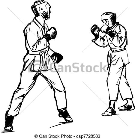 Sparring clipart #4, Download drawings