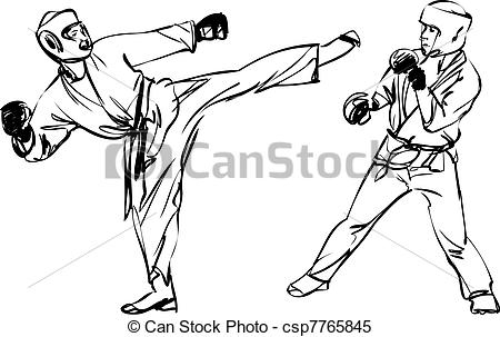Sparring clipart #2, Download drawings