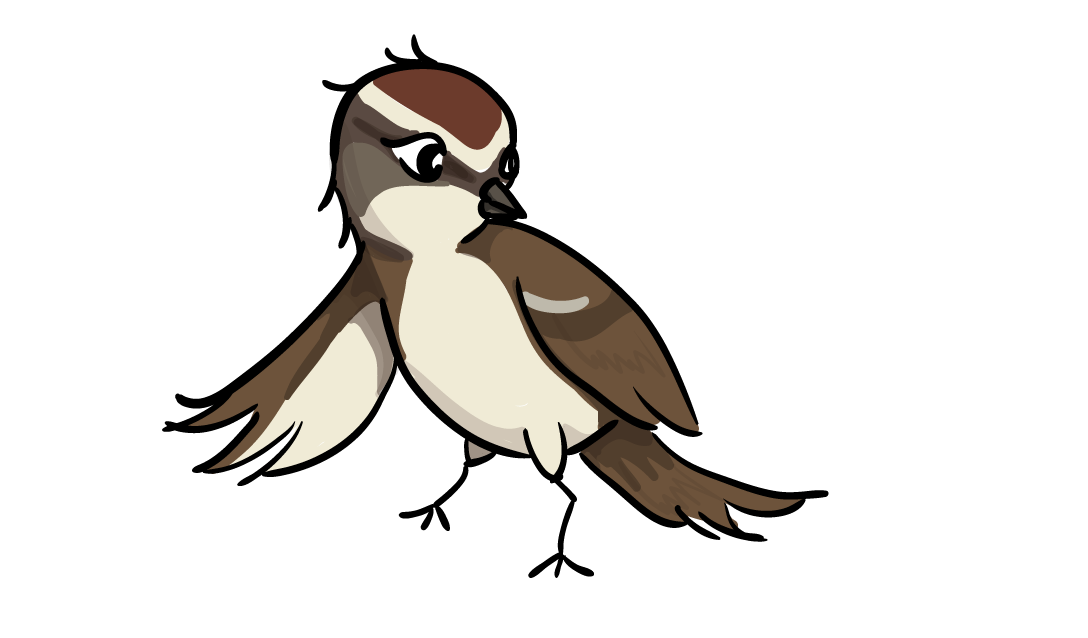 Sparrow clipart #2, Download drawings