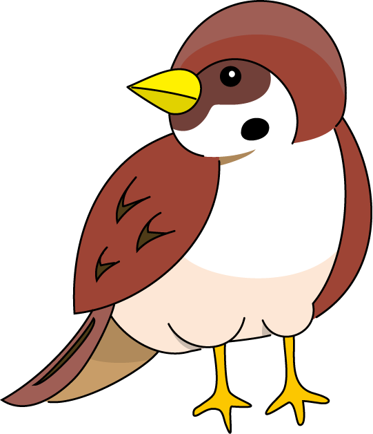 Sparrow clipart #7, Download drawings