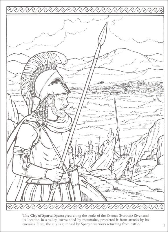Sparta coloring #2, Download drawings