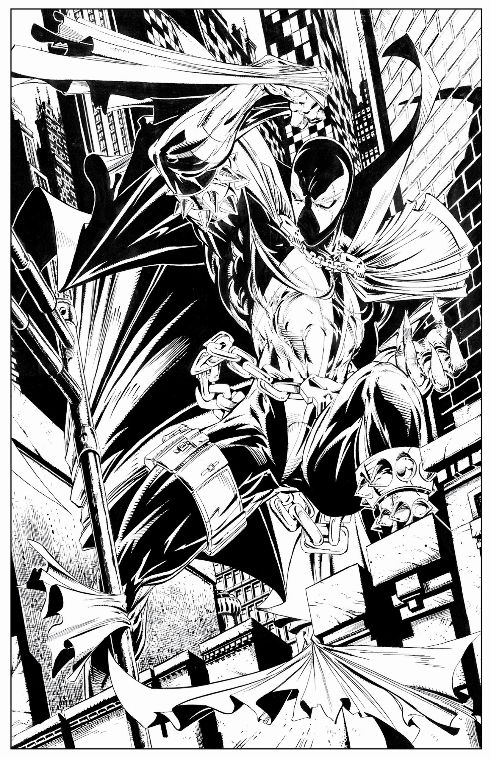 Spawn coloring #18, Download drawings