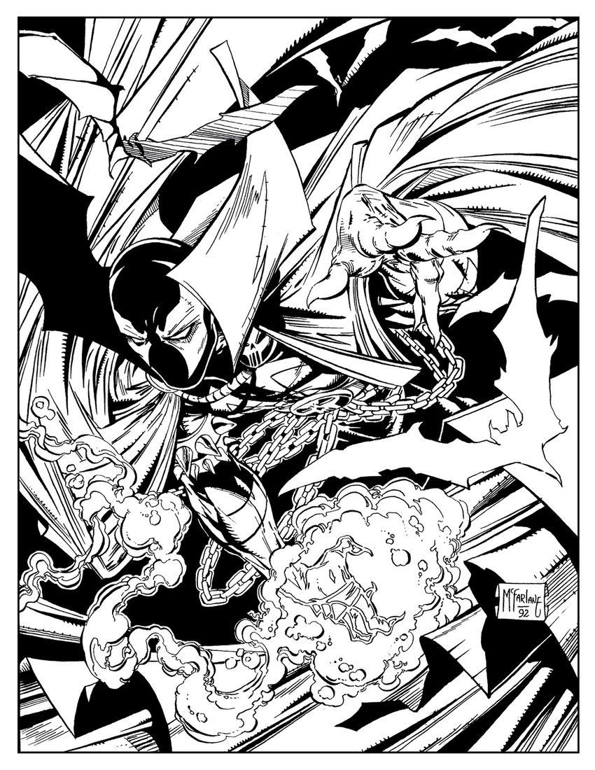 Spawn coloring #5, Download drawings