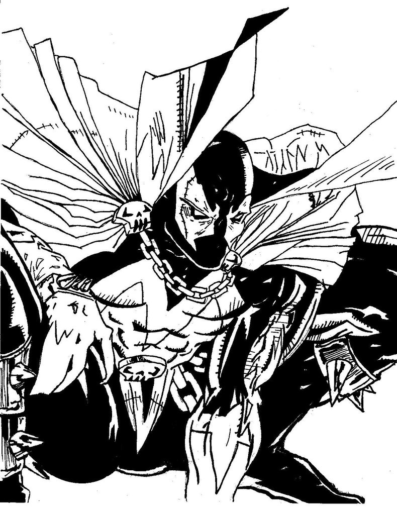 Spawn coloring #3, Download drawings