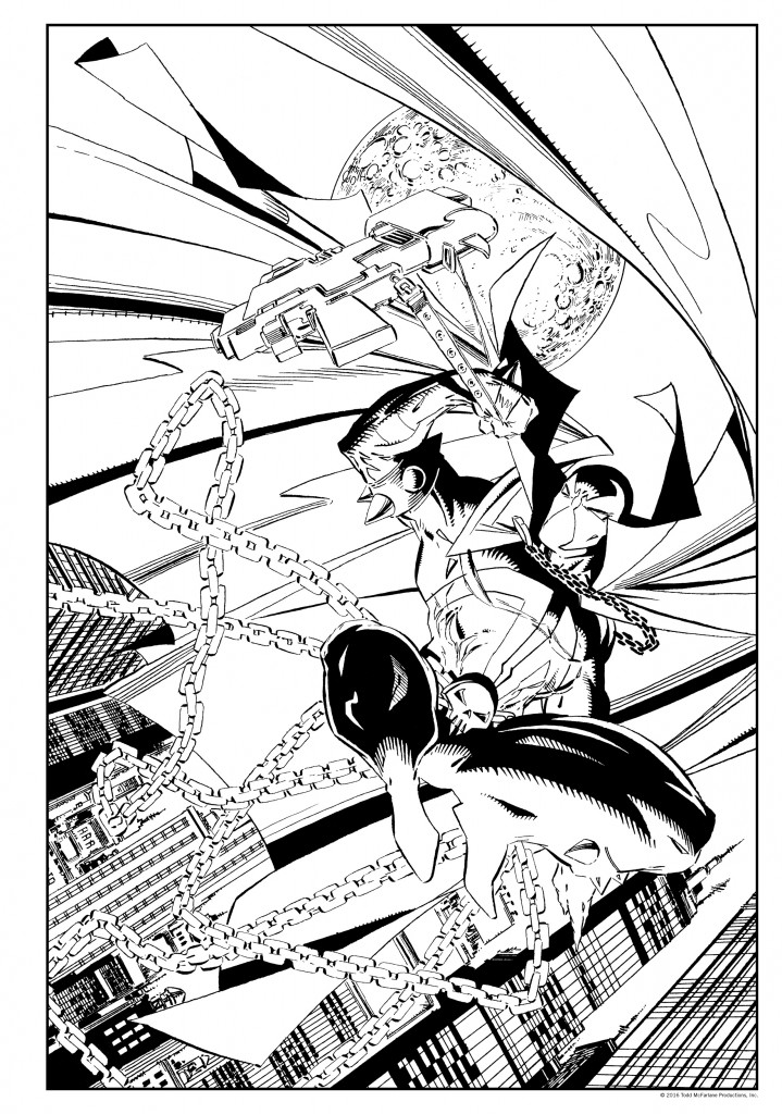 Spawn coloring #10, Download drawings
