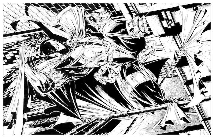 Spawn coloring #17, Download drawings