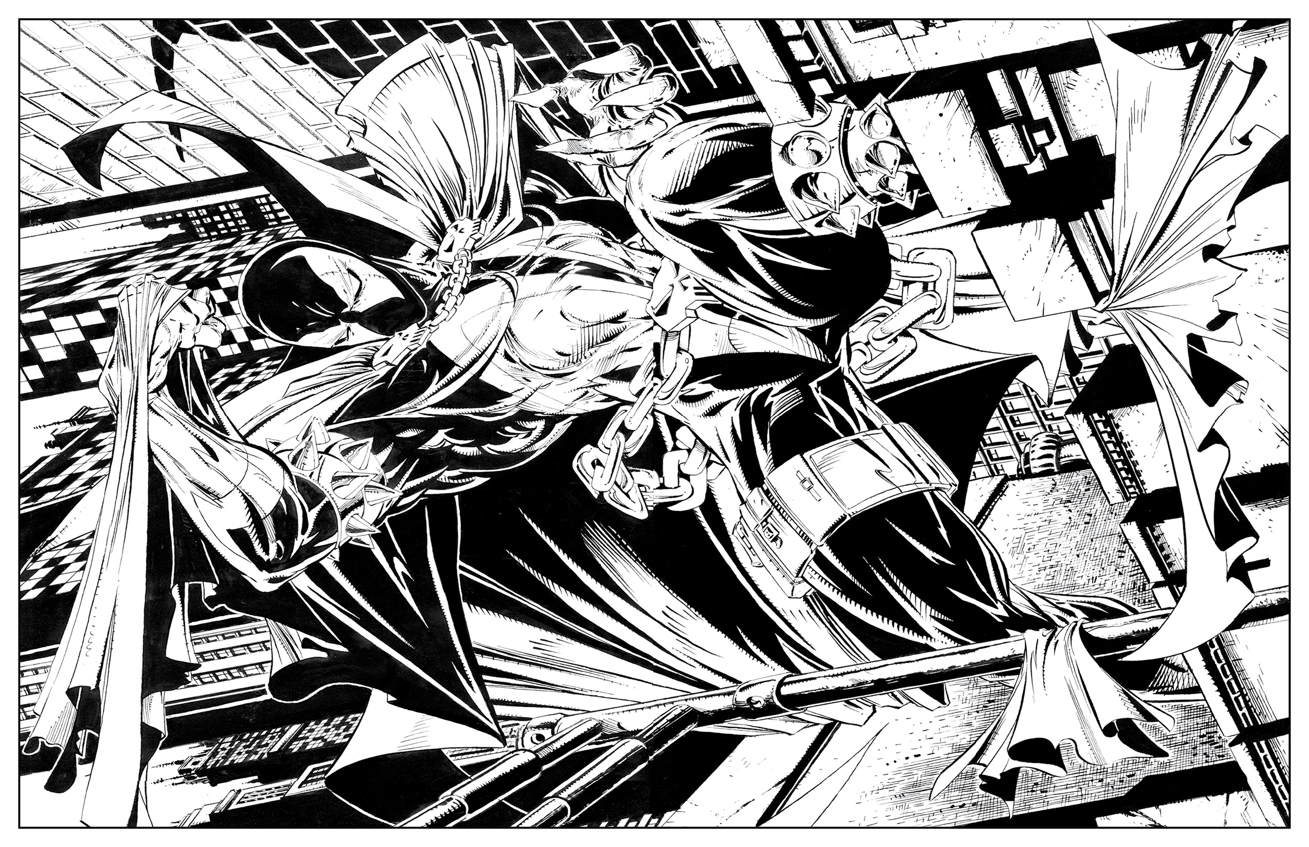 Spawn coloring #13, Download drawings