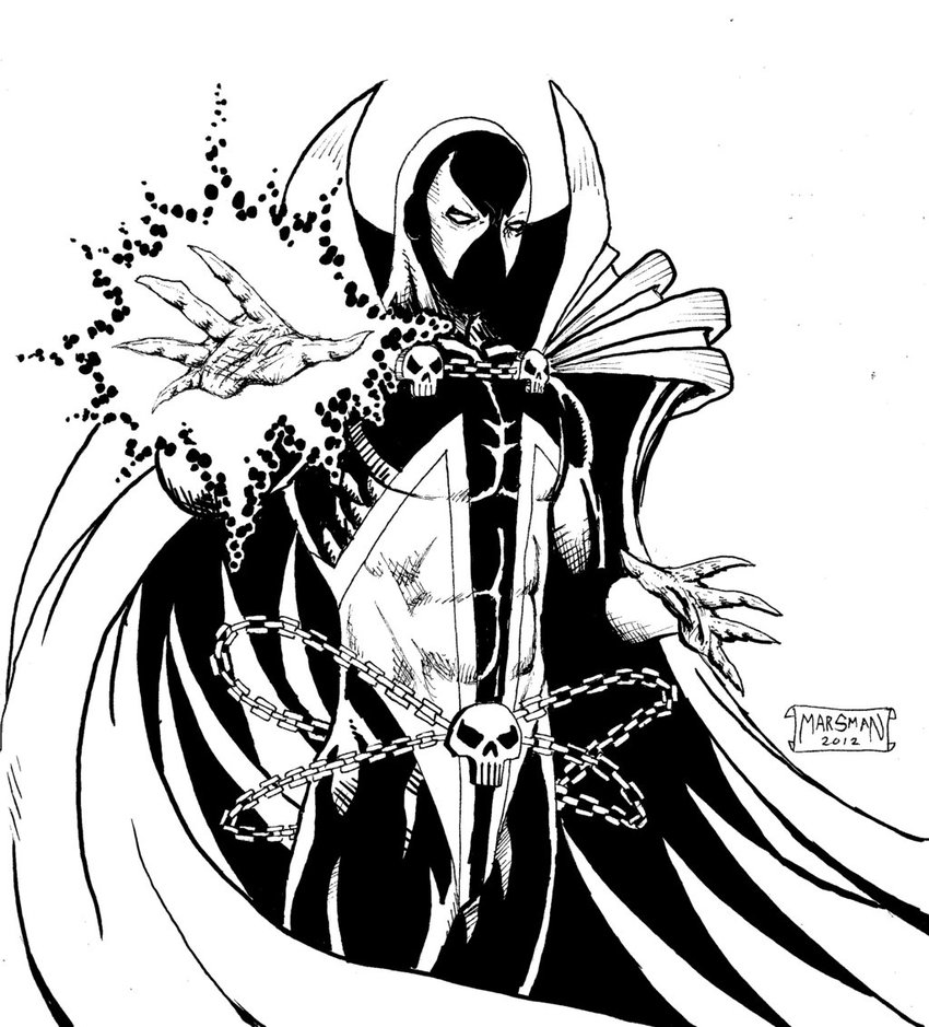 Spawn coloring #7, Download drawings