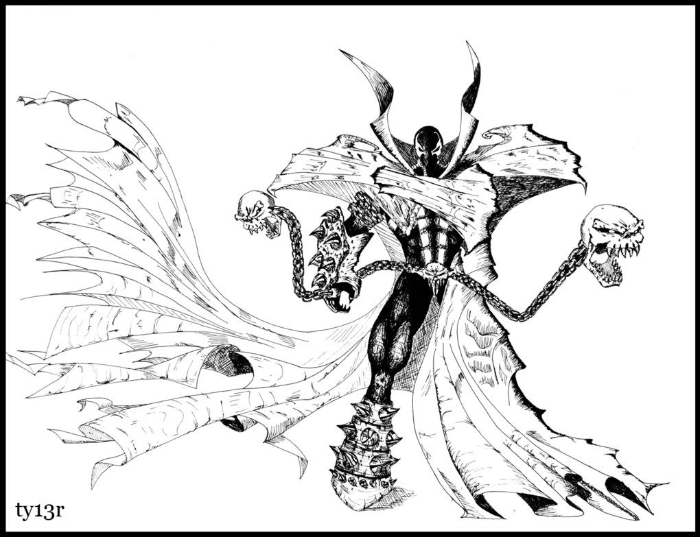 Spawn coloring #4, Download drawings