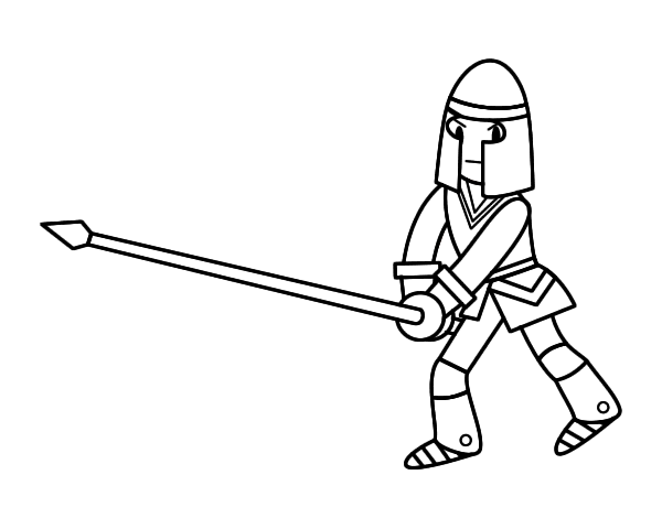 Spear coloring #7, Download drawings