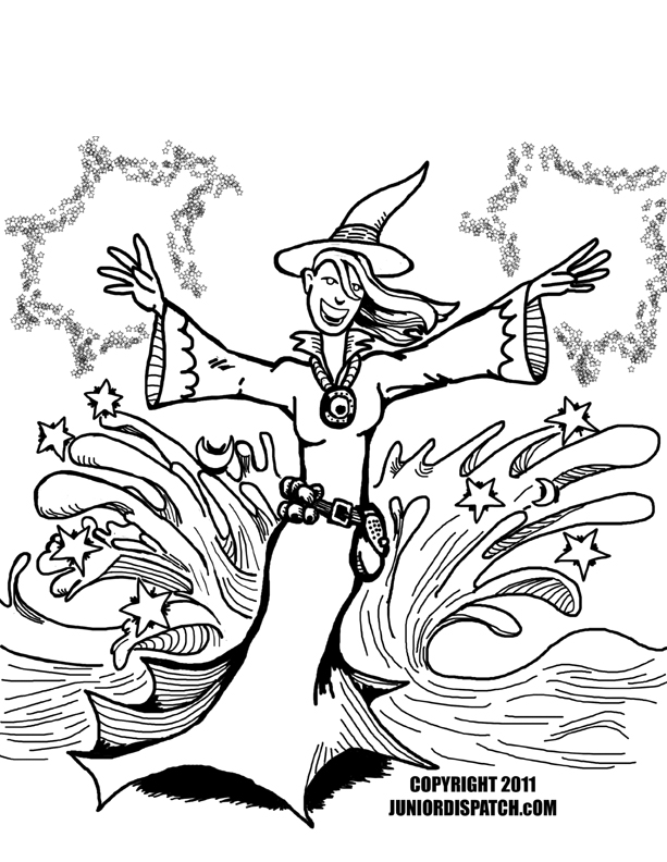 Spell coloring #7, Download drawings
