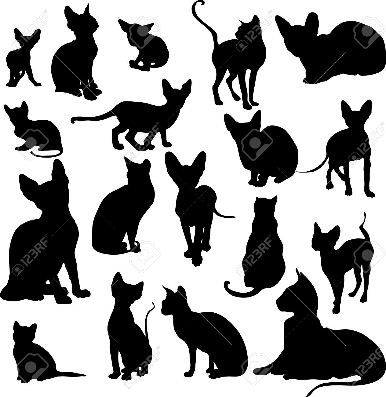 Sphynx Cat clipart #10, Download drawings