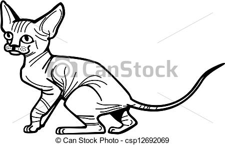Sphynx Cat clipart #14, Download drawings