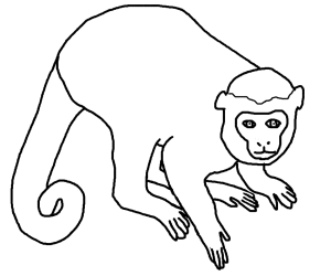 Spider Monkey clipart #2, Download drawings
