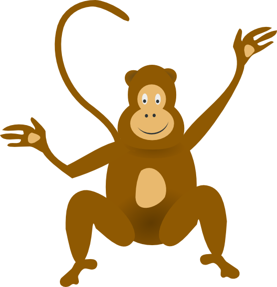 Spider Monkey clipart #4, Download drawings