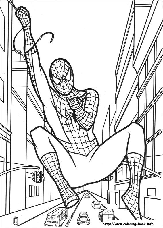 Spider-Man coloring #14, Download drawings