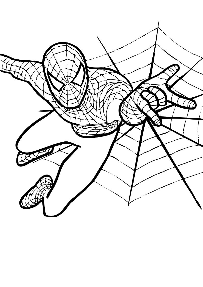 Spider-Man coloring #12, Download drawings