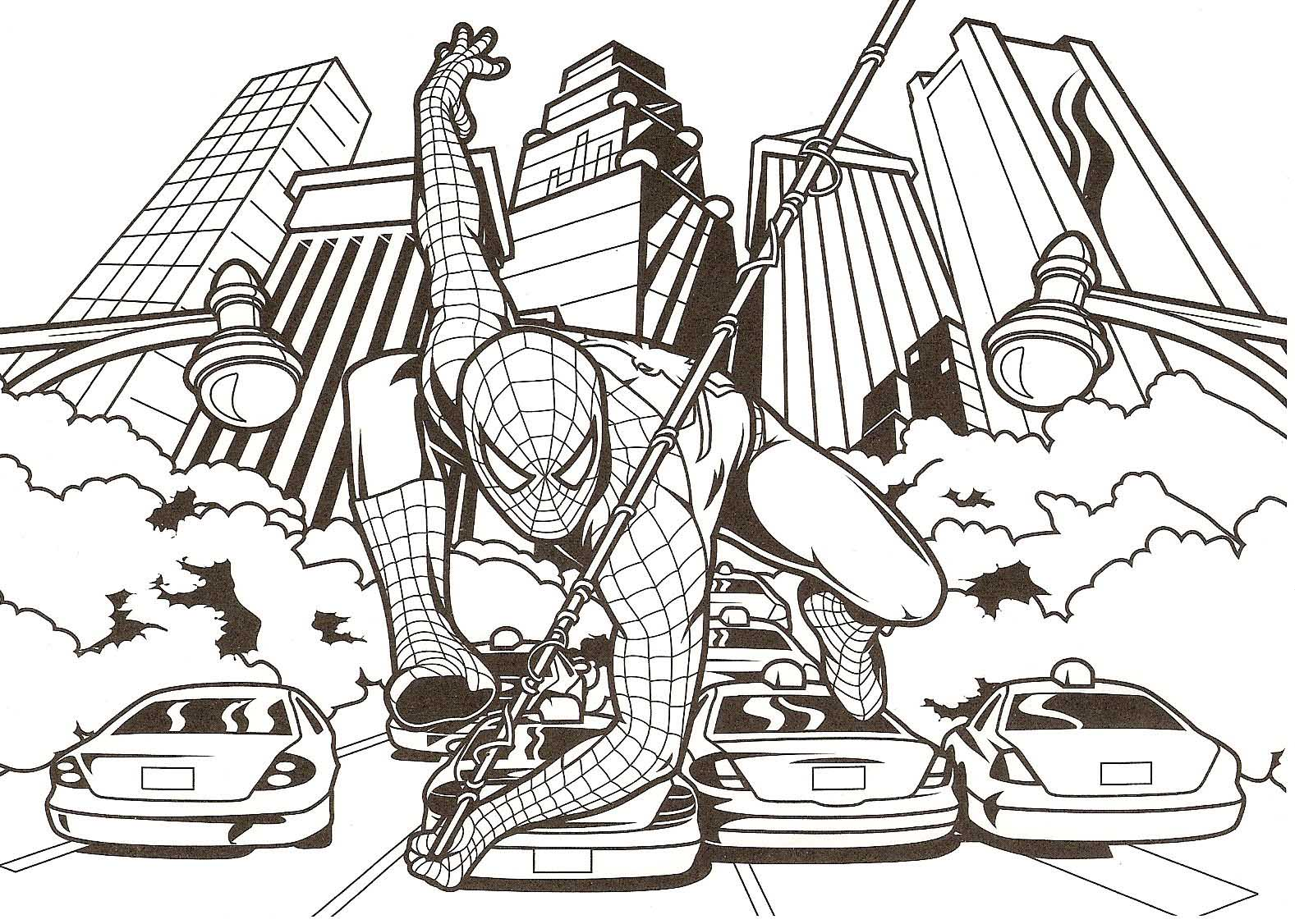 Spider-Man coloring #6, Download drawings