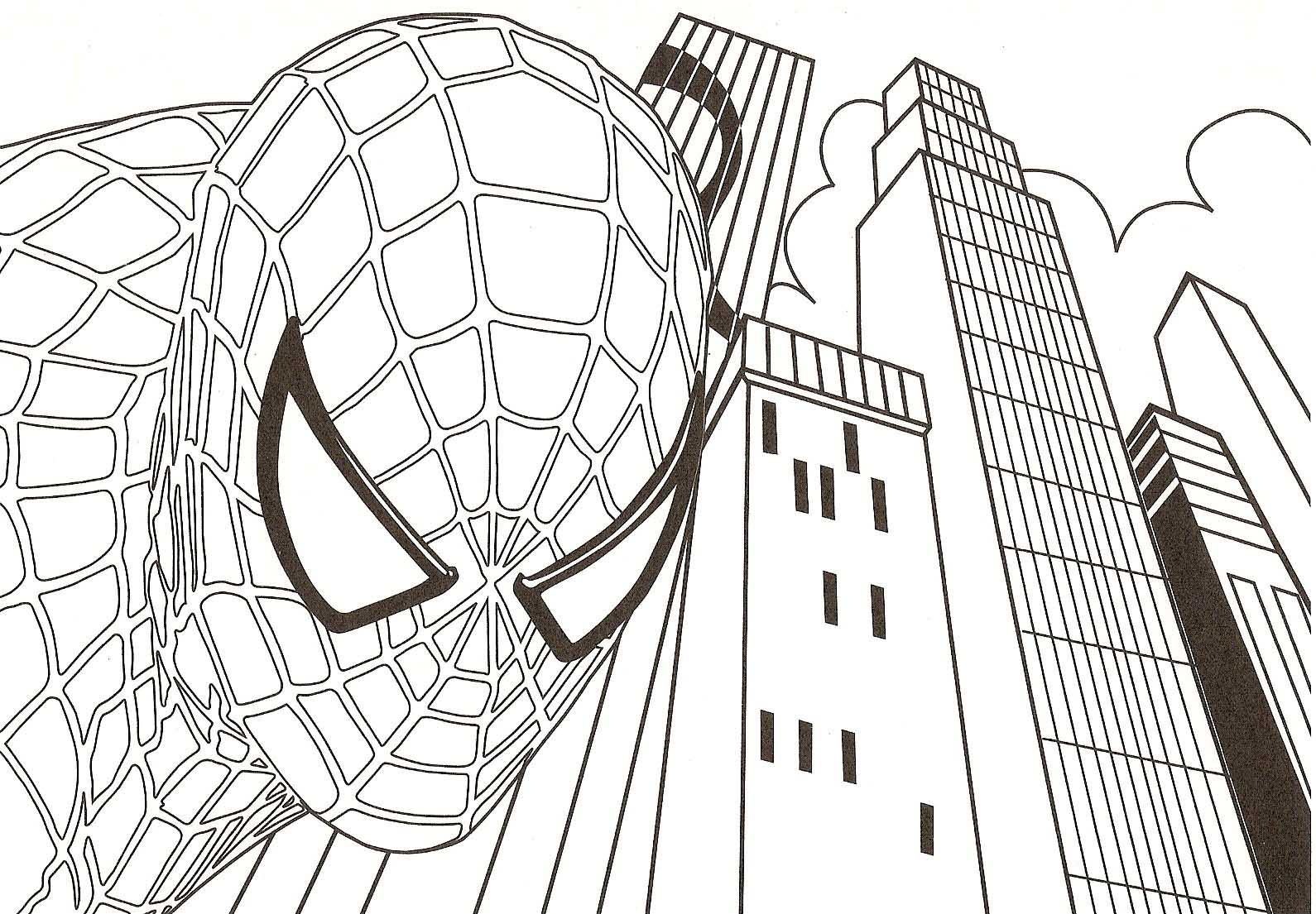 Spider-Man coloring #2, Download drawings