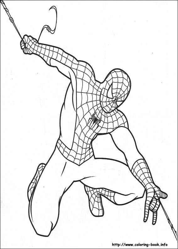 Spider-Man coloring #16, Download drawings