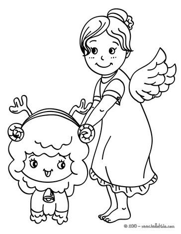 Spirit Angel coloring #9, Download drawings