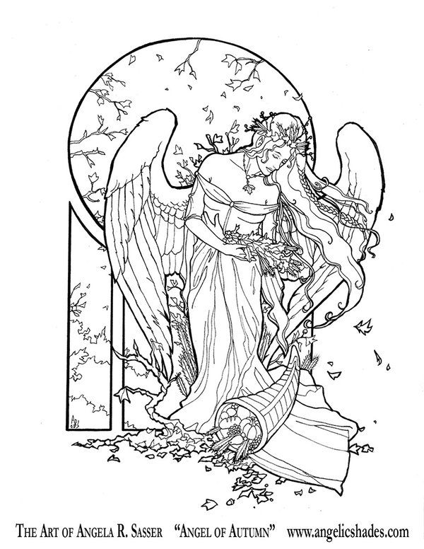Spirit Angel coloring #5, Download drawings