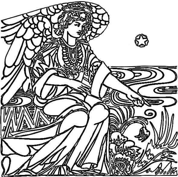 Spirit Angel coloring #3, Download drawings