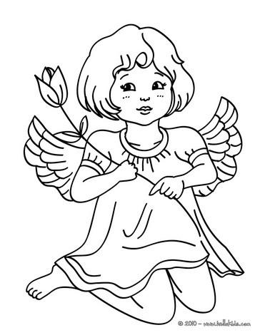 Spirit Angel coloring #17, Download drawings