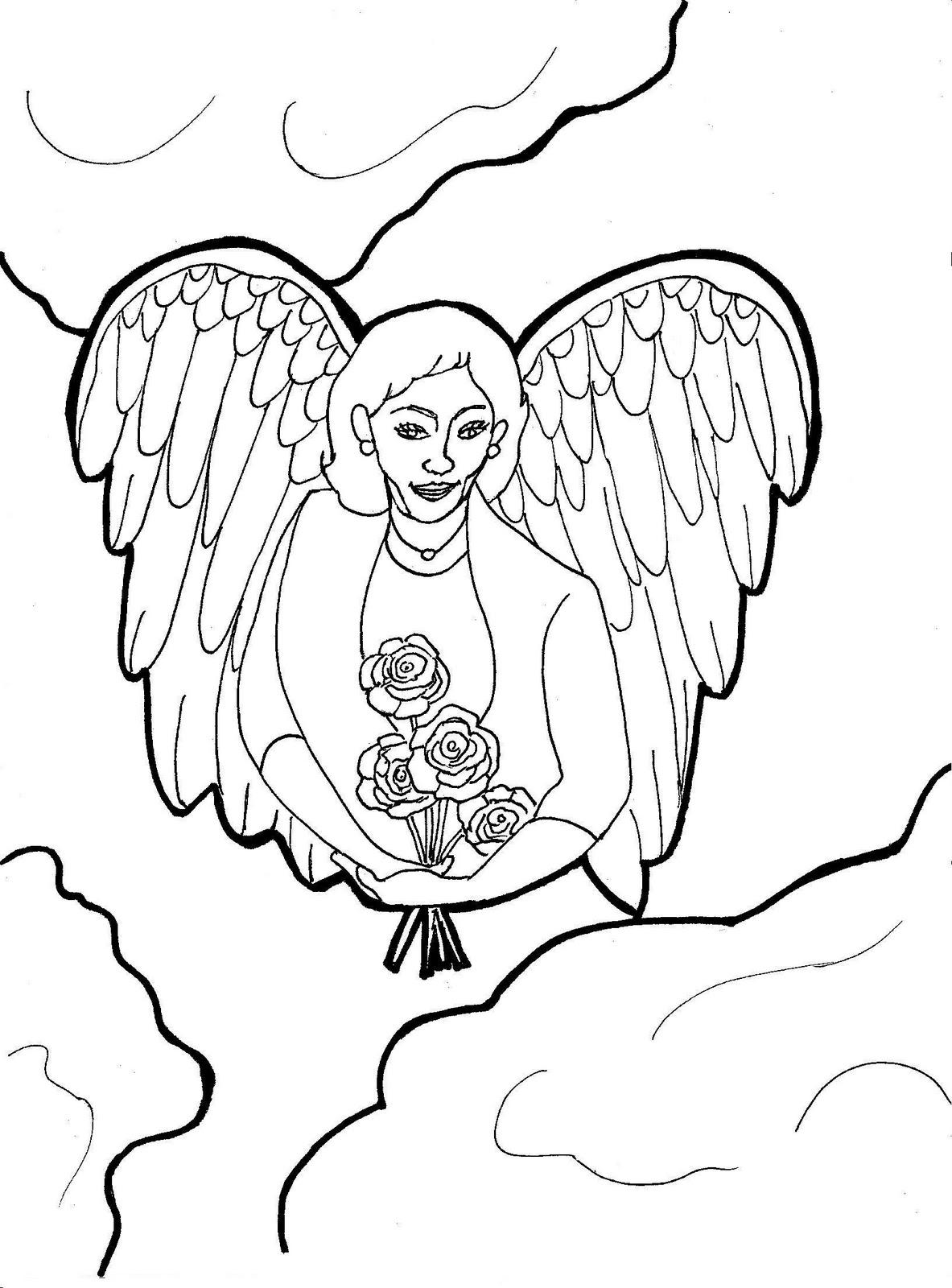 Spirit Angel coloring #13, Download drawings