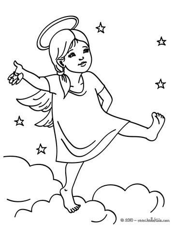 Spirit Angel coloring #12, Download drawings