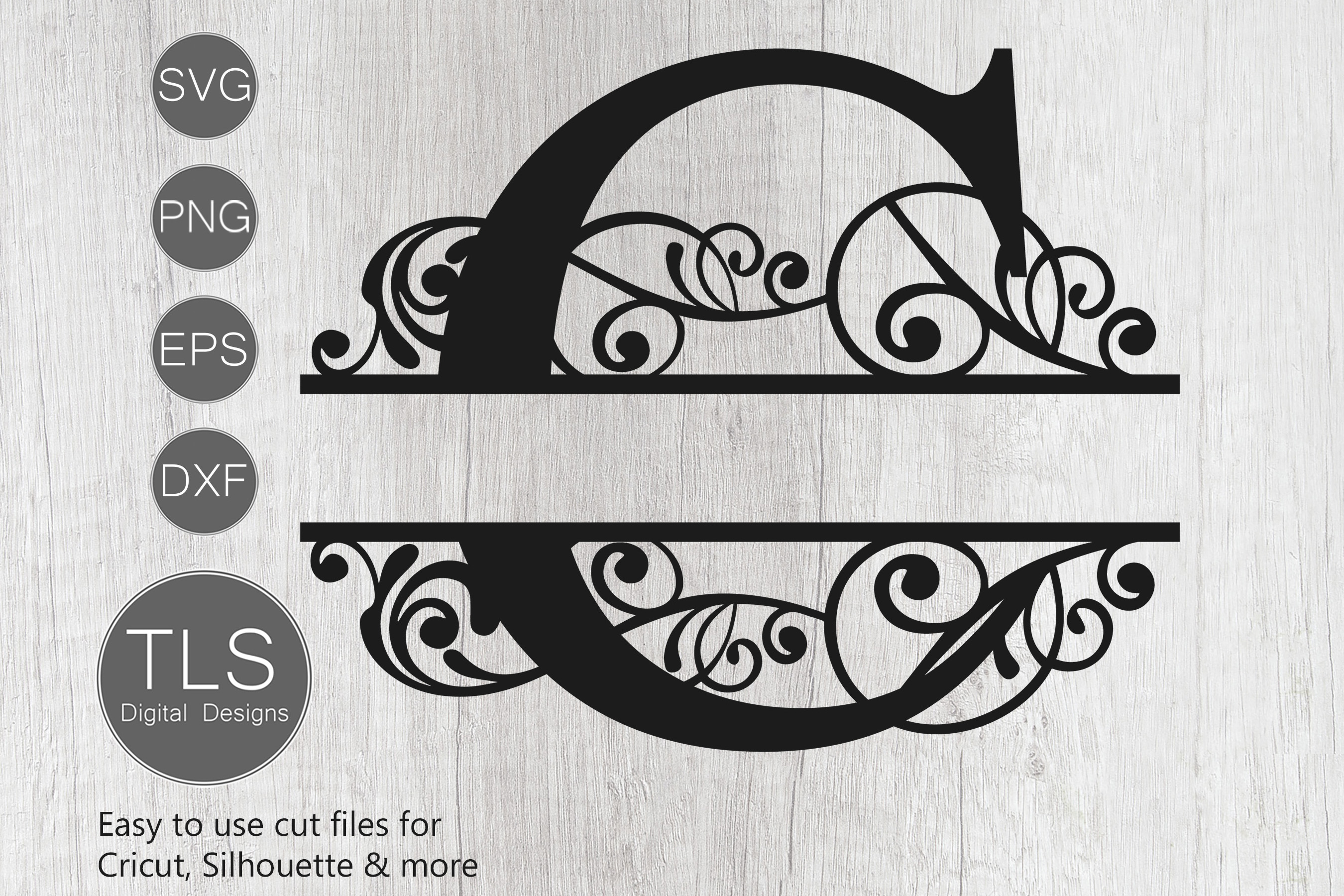 split monogram svg #1124, Download drawings