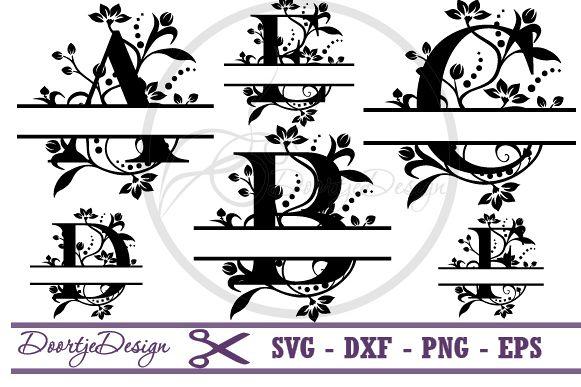 split monogram svg #1130, Download drawings