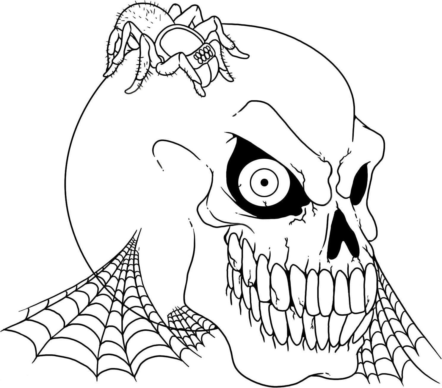 Scary coloring #4, Download drawings
