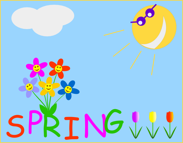 Spring clipart #3, Download drawings