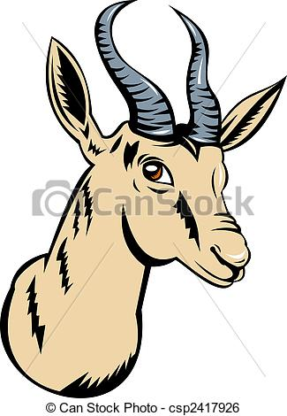 Springbok clipart #3, Download drawings