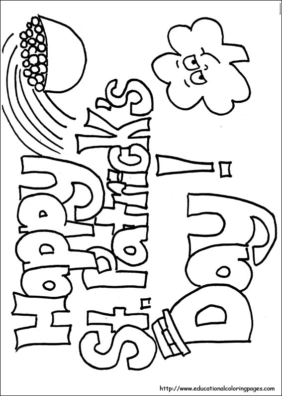 St. Patrick's Day coloring #6, Download drawings