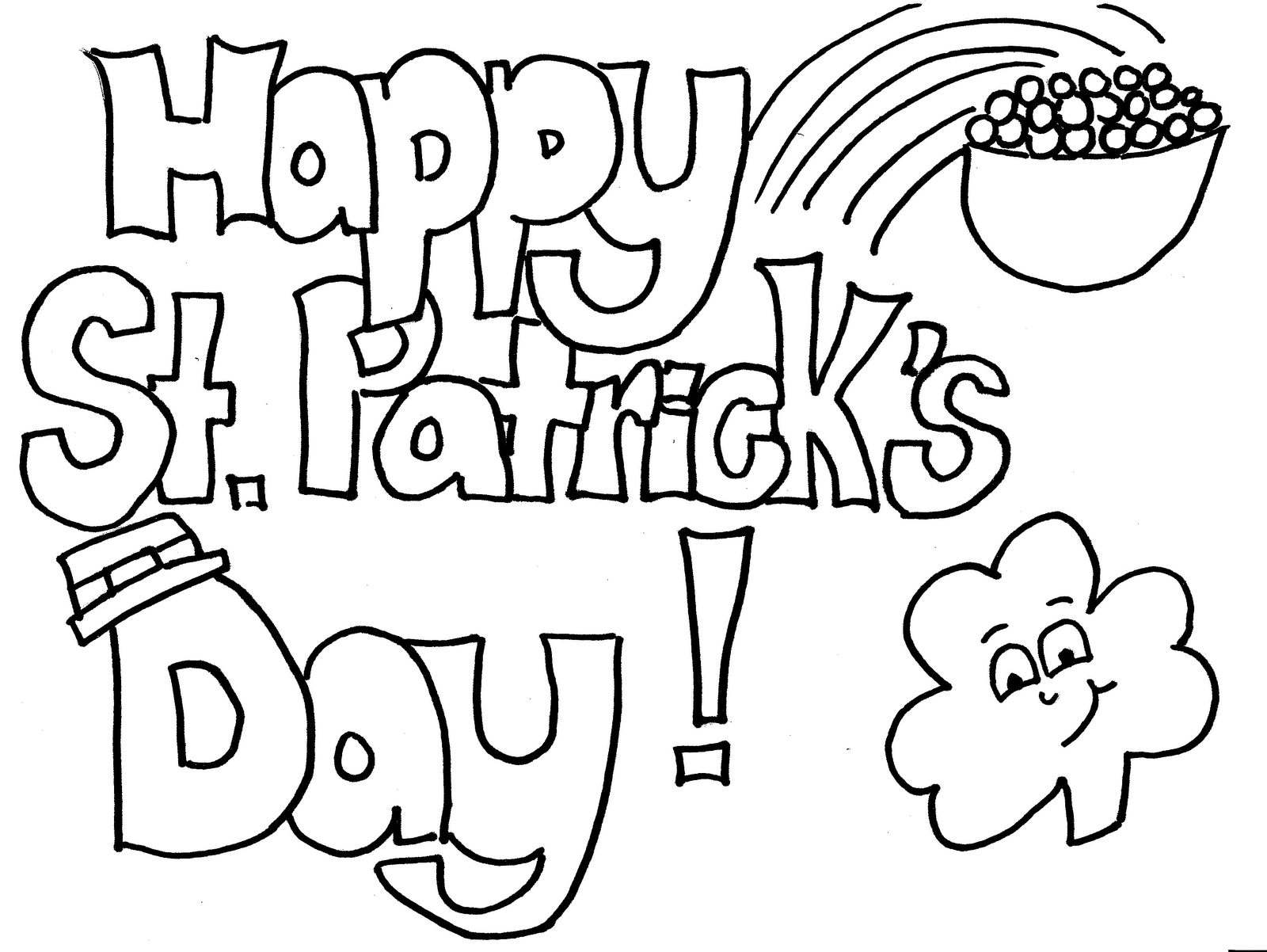 St. Patrick's Day coloring #7, Download drawings