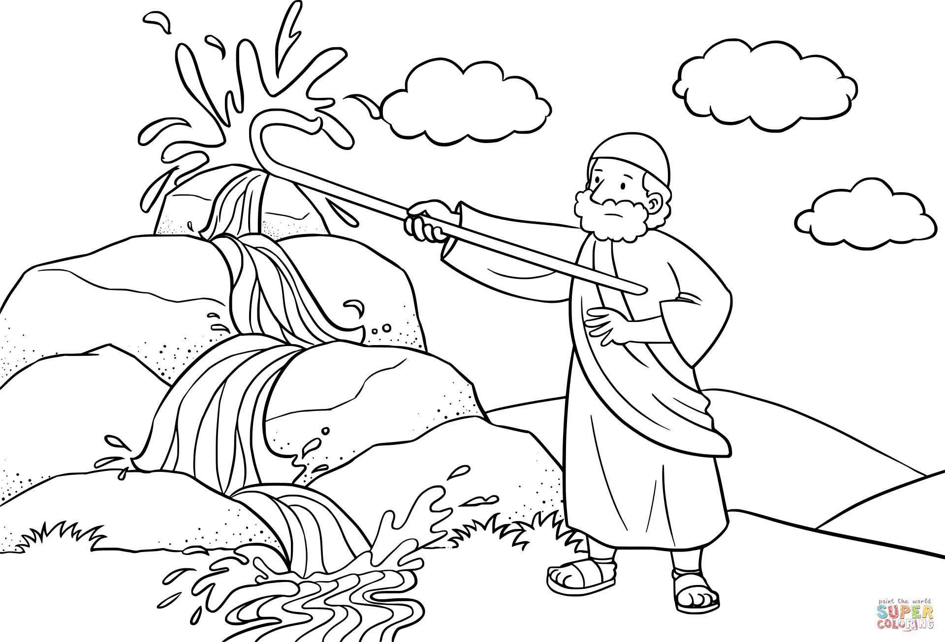 Staff coloring #3, Download drawings