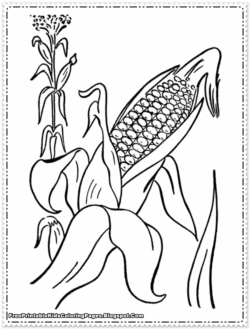 Cornfield coloring #6, Download drawings