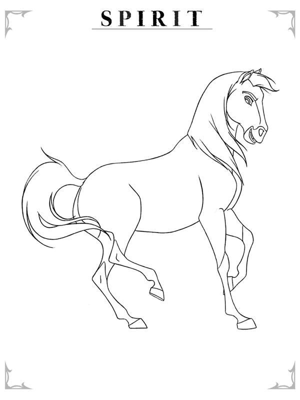 Stallion coloring #14, Download drawings