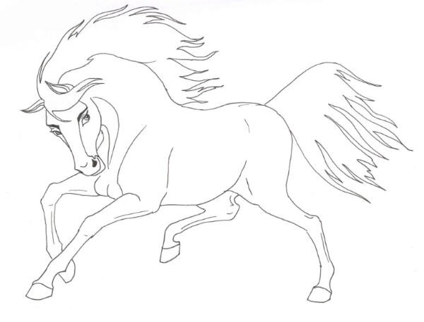 Stallion coloring #5, Download drawings