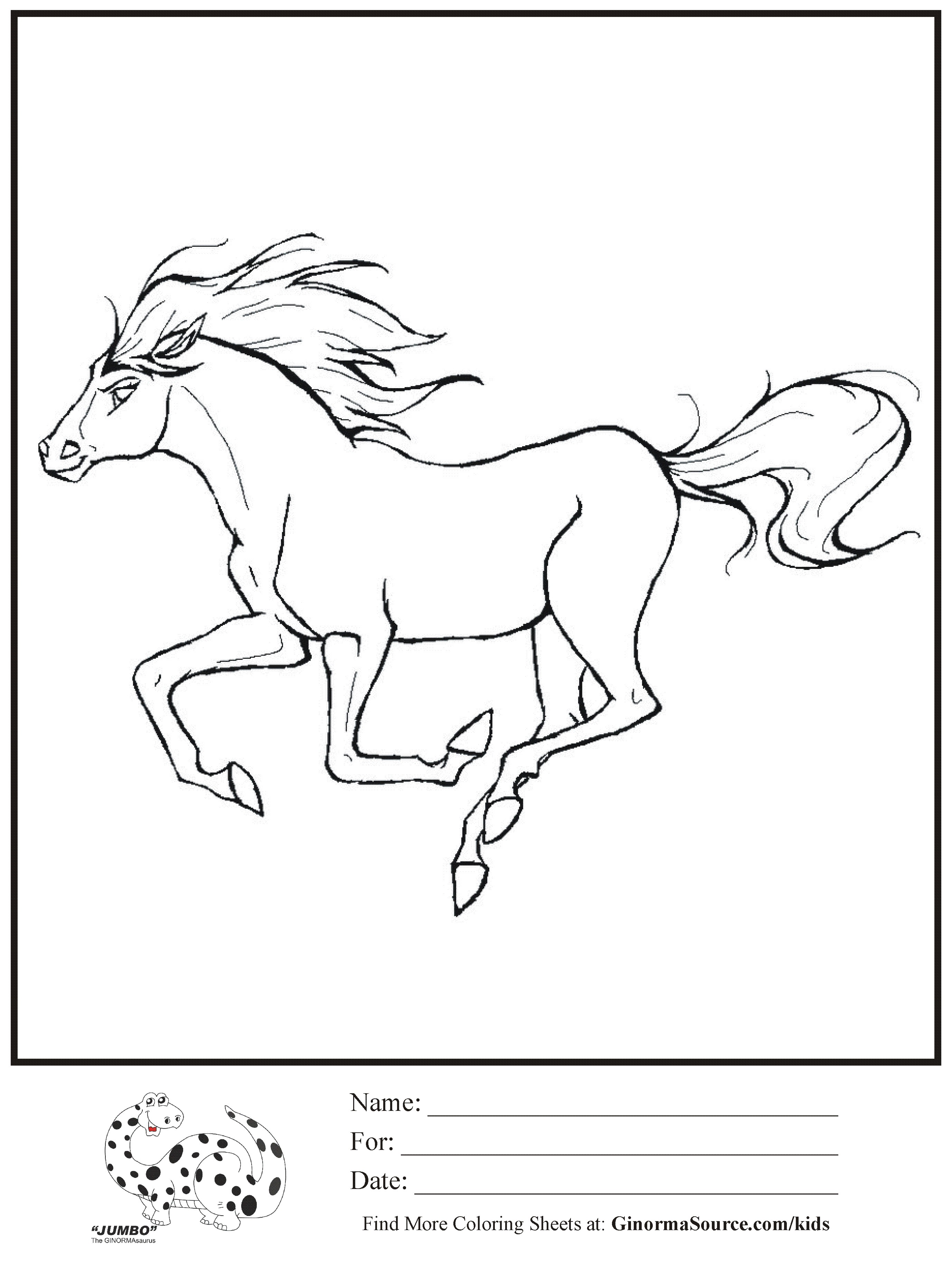 Stallion coloring #7, Download drawings