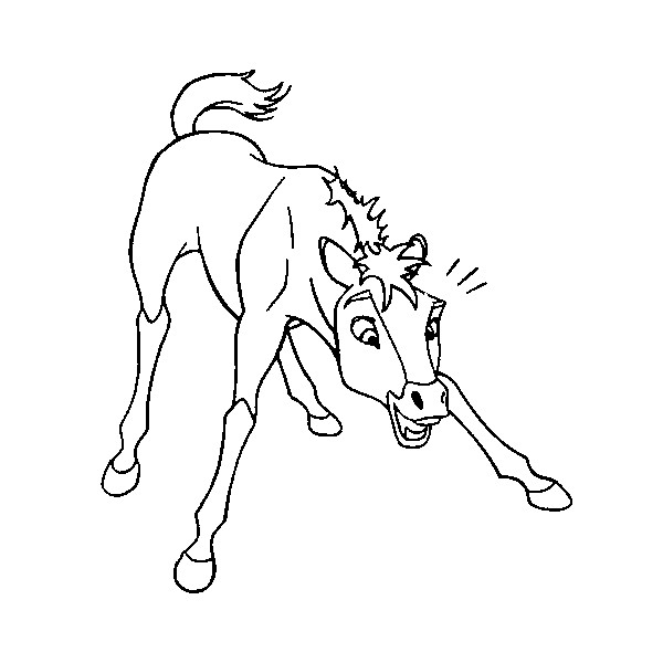 Stallion coloring #4, Download drawings