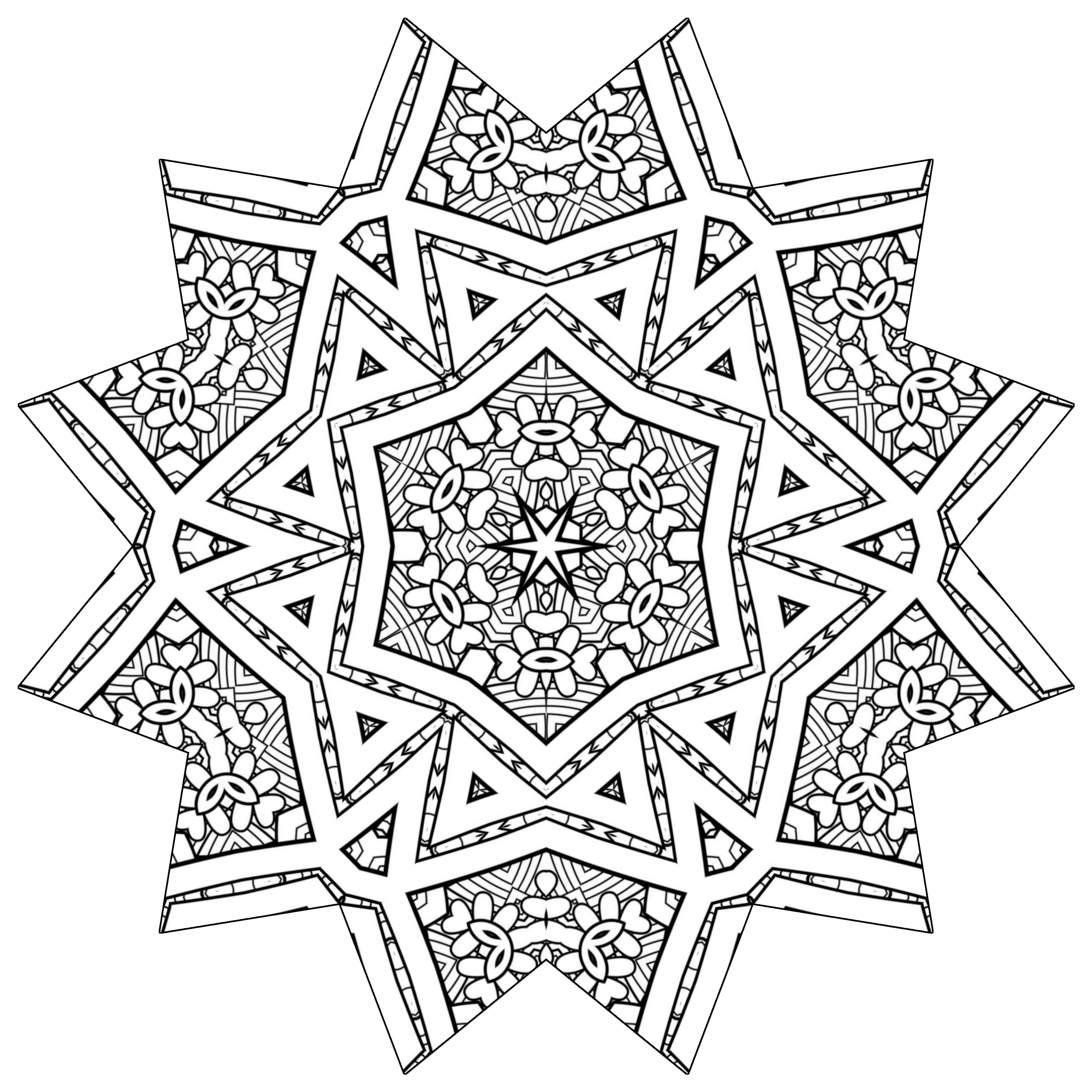 starburst coloring pages - photo#7