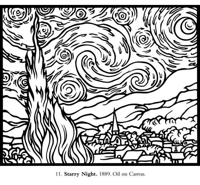 Starry Sky coloring #4, Download drawings