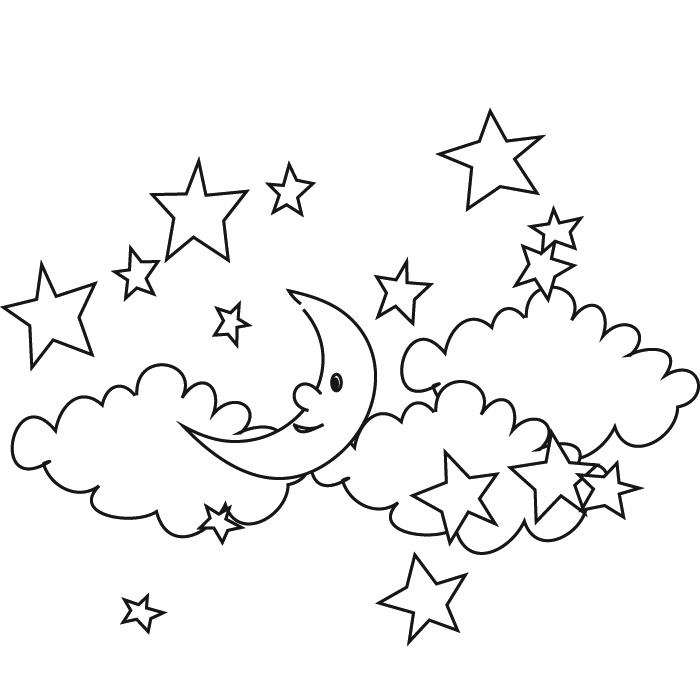 Starry Sky coloring #14, Download drawings